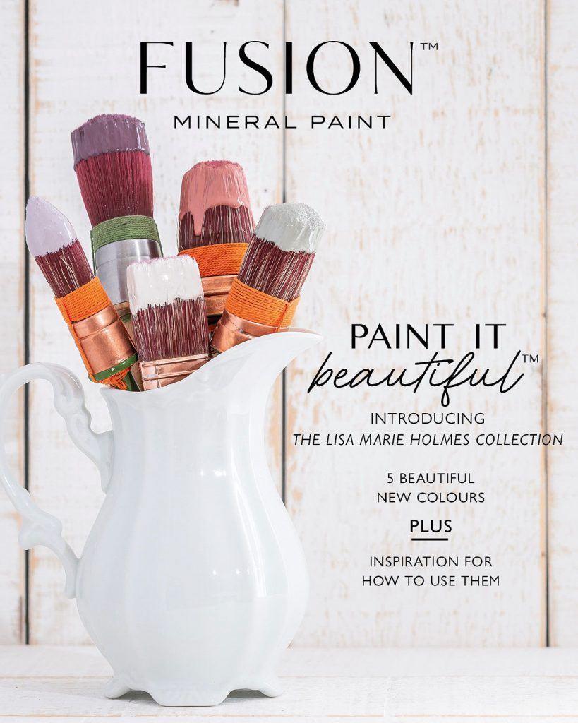 Introducing the NEW Lisa Marie Holmes Color Collection from Fusion Mineral Paint. #thetreasuredhome #fusionmineralpaint #lisamarieholmes #bestfurniturepaint #onlinepaintshop