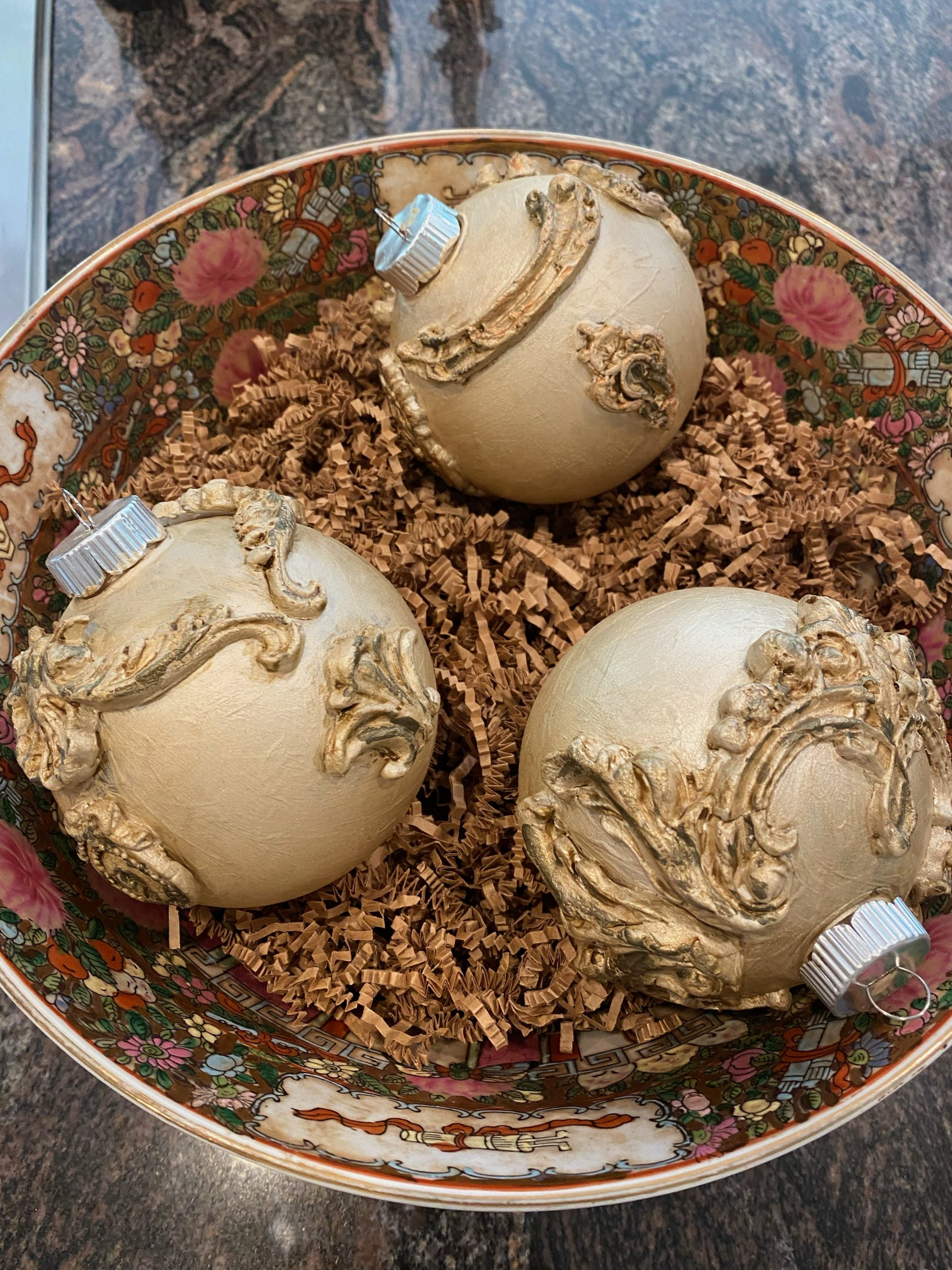 Ornaments In A Bucket.